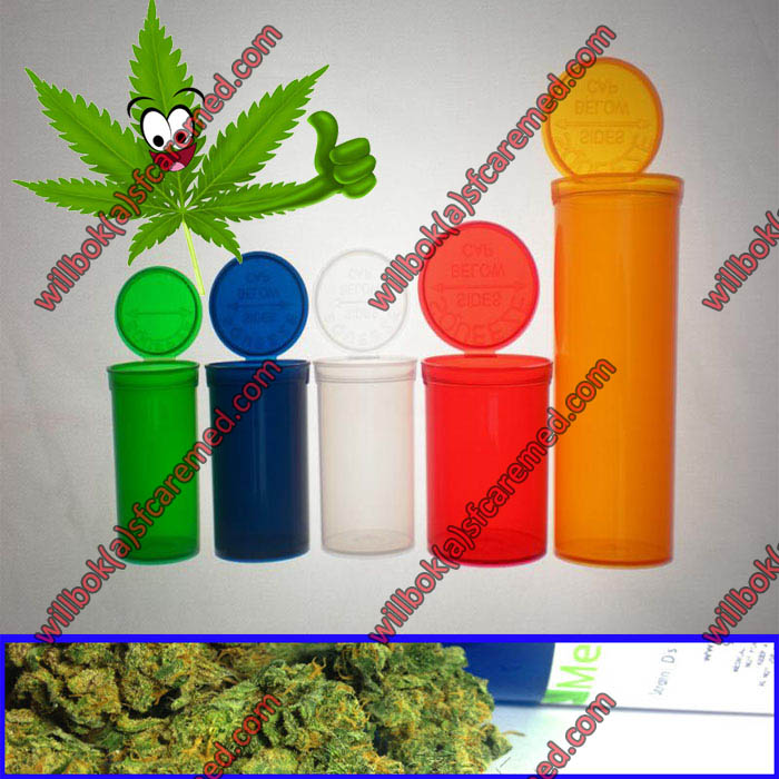 Medical Rx weed pot Jar storage Cannabis Pop Top Vials Hinged Lid Container with snap cap