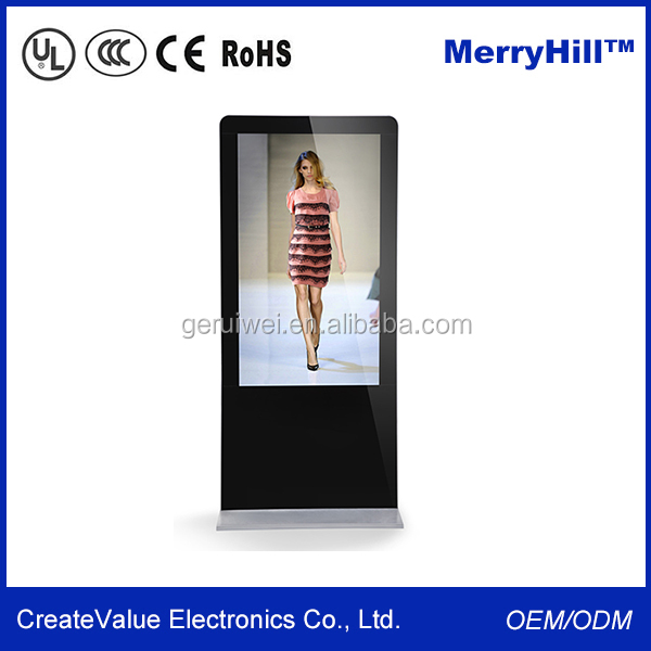55 inch LCD Touch Screen digital advertising displayer with computer accessories