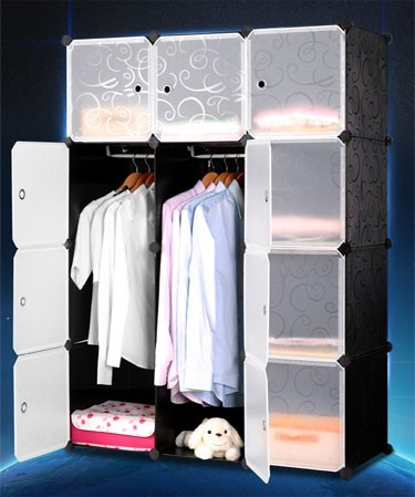 Multi-functional bedroom almirah wardrobe design