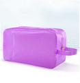 Purple swimwear bag swimming waterproof transparent package beach candy color waterproof bag