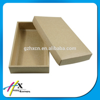Custom Rectangle Shaped Plain Brown Kraft