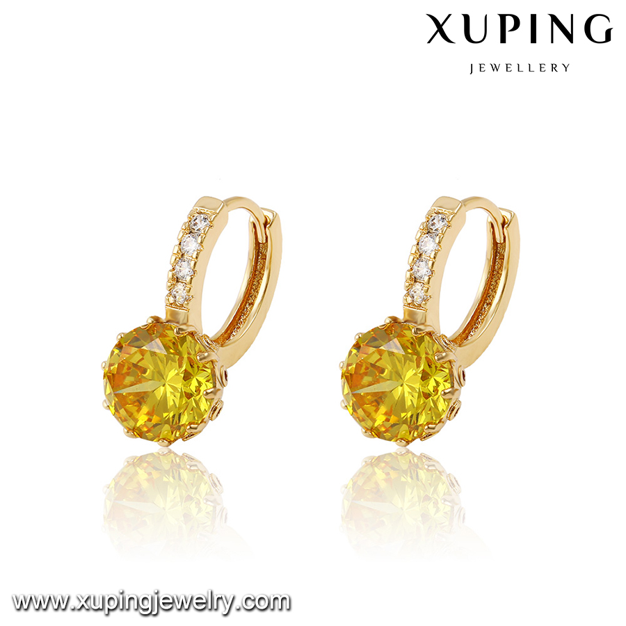 27431-Xuping Jewelry Hot Sale Fashion 18K Gold Plated Hoop Earring For Woman