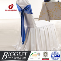 white ruffled wedding polyester universal chair cover