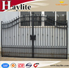 Sliding driveway decorative ornamental luxury garden automatic wrought iron fence gate