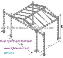 easy setup outoor truss system with roof