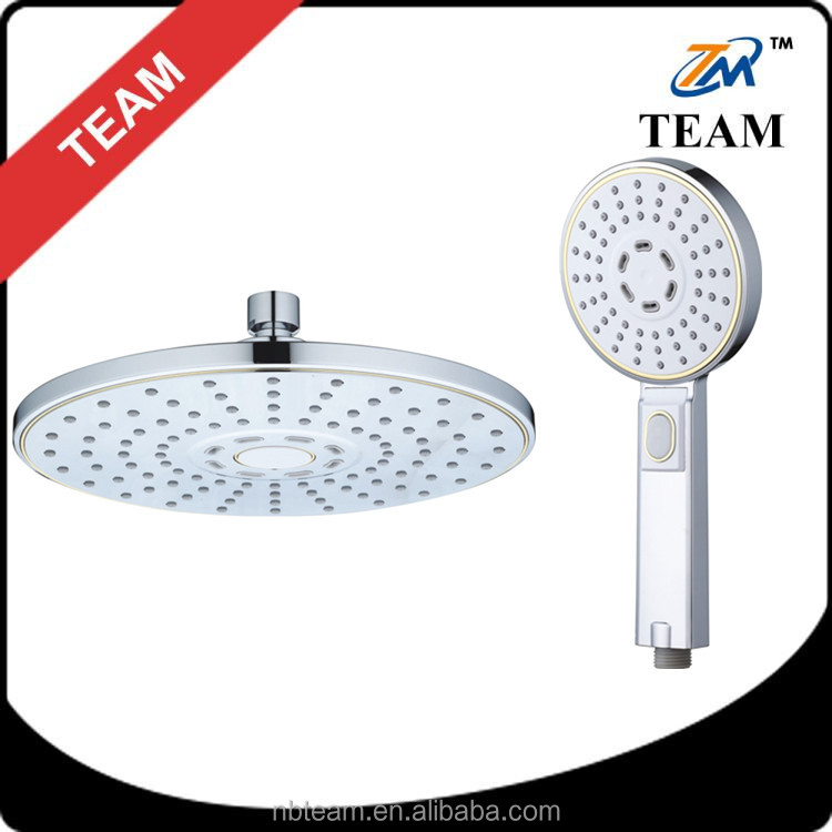 cheap chrome rain Plastic ABS top hand shower head bathroom set