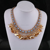 Jewelry Of Gold crystal Necklace 2015 hot sale Pandent Cluster Necklace SN-040