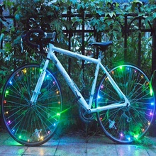 2.35m Chargeable led string 20 LED bicycle wheel decorative light with six colors optional
