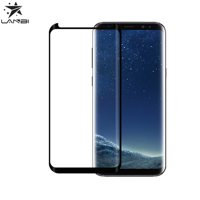 High quality android sreensaver silicone glass 3d curved full glue film for samsung s8