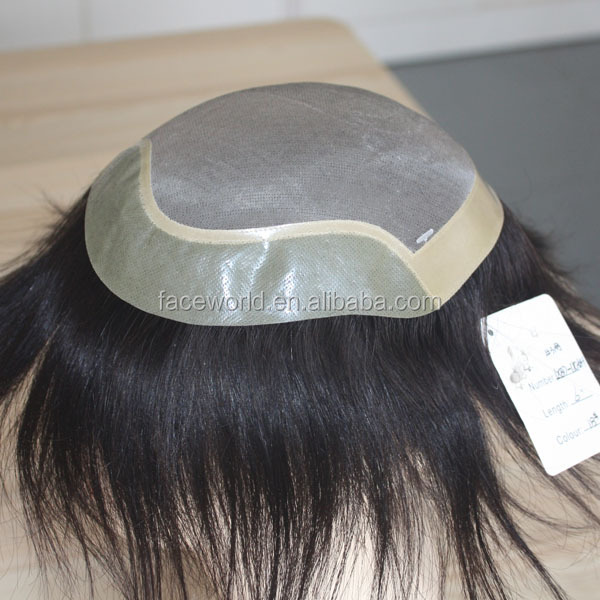 Factory wholesale human hair wig for men top quality men toupee