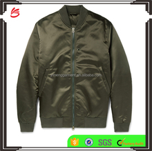 High Quality Mens Satin Varsity Jacket Silk Baseball Bomber Jacket