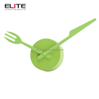 knife and fork cutlery decoration wall timer kitchen clock