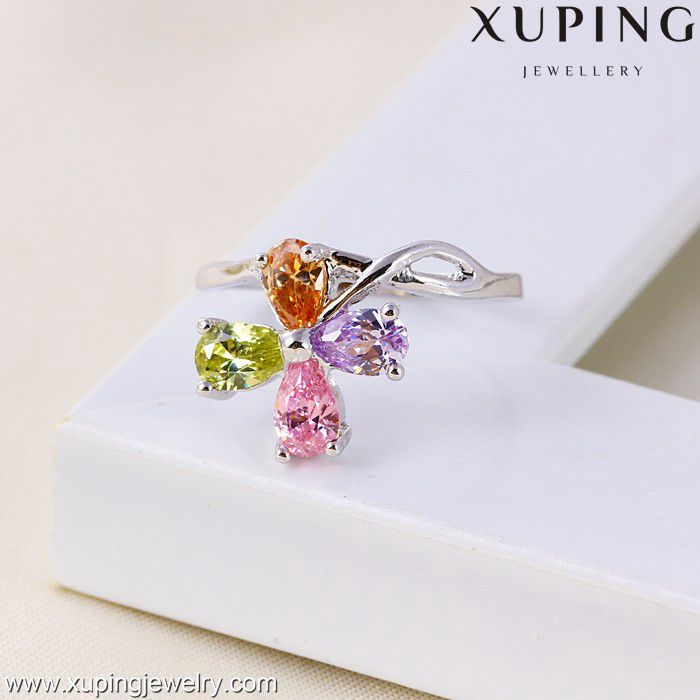 11027 XUPING fashion ring finger rings photos, latest wedding 2 gram gold ring