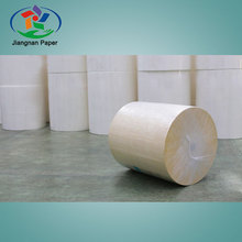 sugarcane and wood pulp natural color bopp paper jumbo roll
