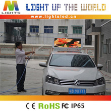 2014 OEM manufacturing advertising led TV screen p4 taxi roof light box led topper sign
