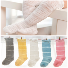 White The princess style cotton Baby Knee High Socks