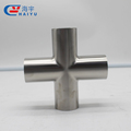 Sanitary welded cross pipe fitting item name