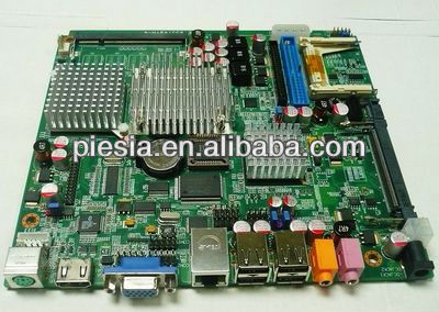 Cheapest car pc motherboard desktop computer motherboard with LVDS/CF Card slot/MINI PCI