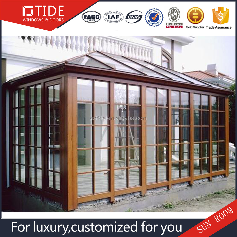 Super qualità e prezzo competitivo veranda, in legno con sala ...