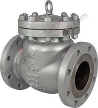 Industrial Water Flow WCB Stainless Steel Renewable Seat Swing Check Valve