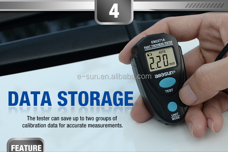 EM2271A Digital Fe//NFe 0.00-2.20mm Thickness Gauge Coating Meter Paint Tester