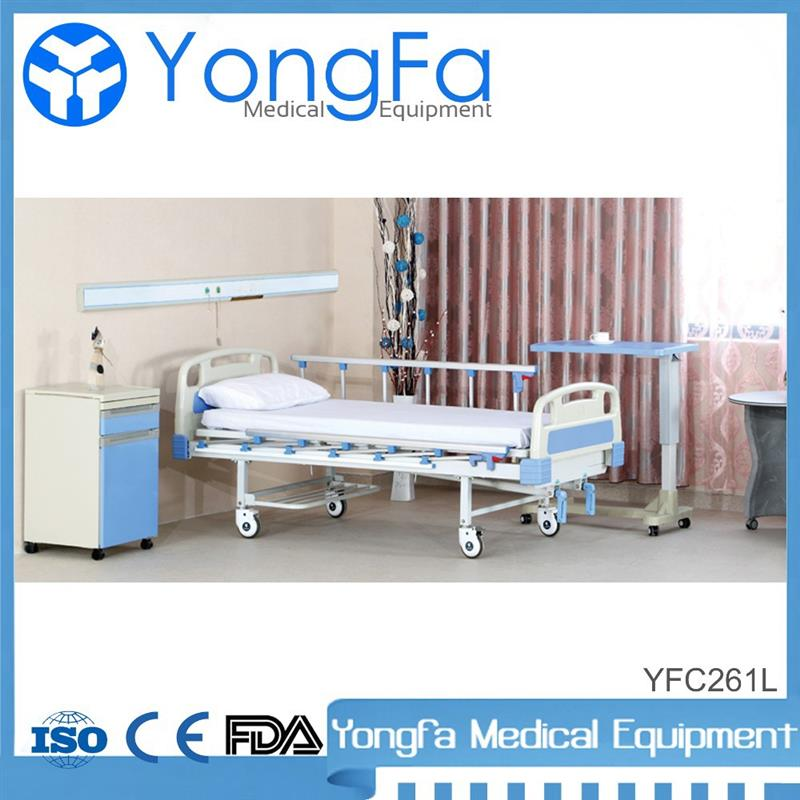 high-quality electric hospital bed 2 function manual bed with commode with low price