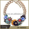 Hot Sale Z Brand Statement Pendants&Necklaces High Quality Color Flower Necklaces for Women Chunky Choker Necklace Jewelry