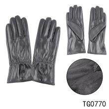 TOROS Lady New Wholesale Winter PU Leather Gloves Custom Fashionable Finger Glove