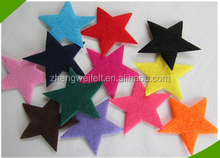 No woven colorful needle punched polyester felt
