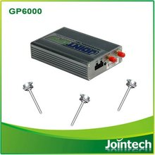 GPS tracker with capacitive fuel level sensor used for fleet management and fuel consumption monitoring