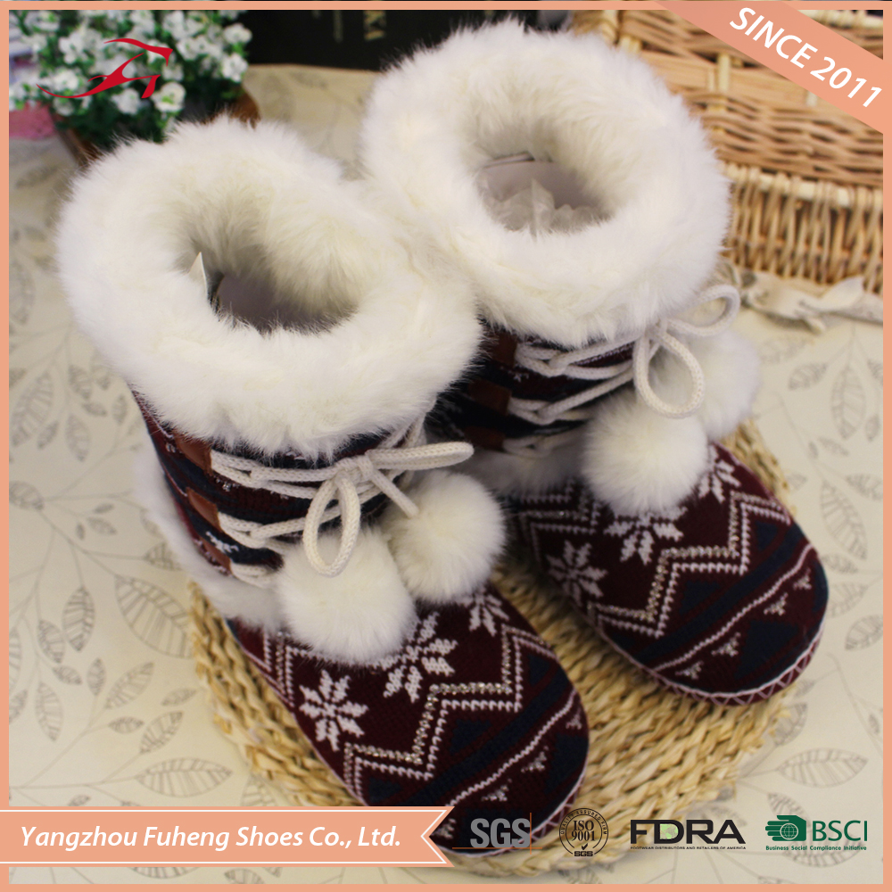 winter knitted boots women shoes winter 2017
