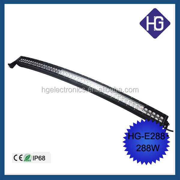 Customized CURVED BAR automotive motorcycle 4x4 288W 50inch wholesales led light bar