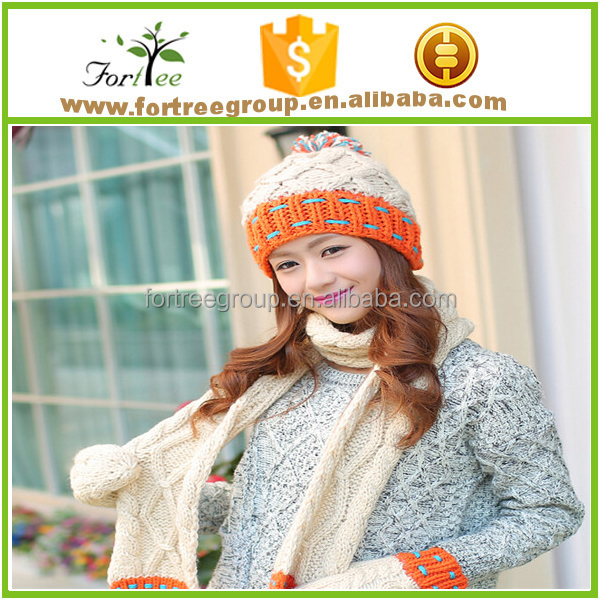 cut cashmere knit scarf gloves hat sets