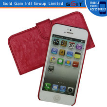 Wallet Leather Case With Card Slot,For iPhone 5S Leather Case