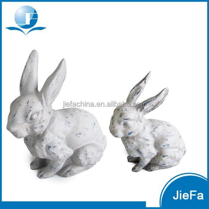 Groot buitenzwembad pasen konijn paashaas in papier mache papier mache voor thuis tuin - Decoratie buitenzwembad ...