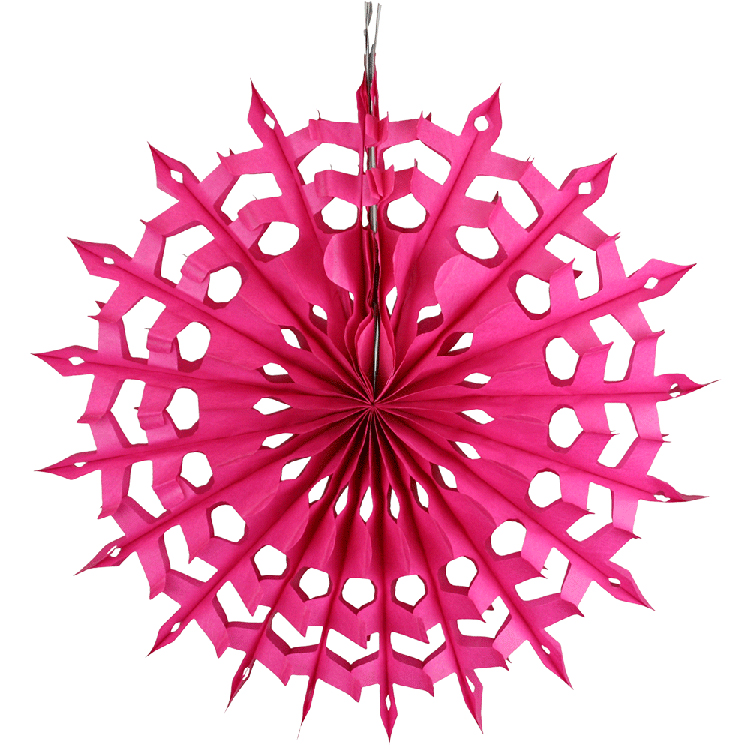 Pretty hanging tissue paper fan for decoration
