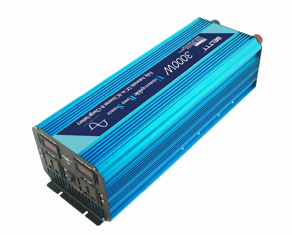 Highly Effective 12V 24V 48V 3000W Peak Power 6000W Pure Sine Wave Inverter Charger Made in China