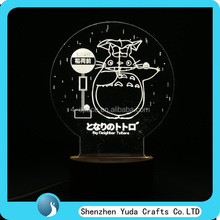 Amazing Optical Illusion 3D Deco night Light lamp 3D Cartoon Bedside Lamp ,3D LED Cartoon Night Lamps for Children