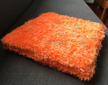High Quality Orange color Car Cleaning Car detailing Microfiber Sponge Wash Pad
