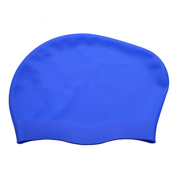 Silicone fashion design long hair durable swimming caps