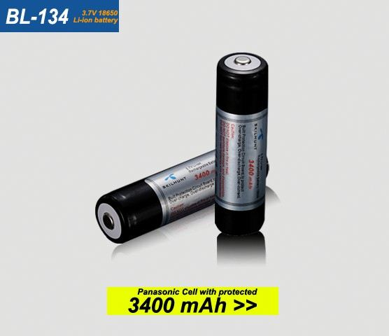 BL-134 3.7V NCR18650B 3400mAh protected 18650 rechargeable lithium battery