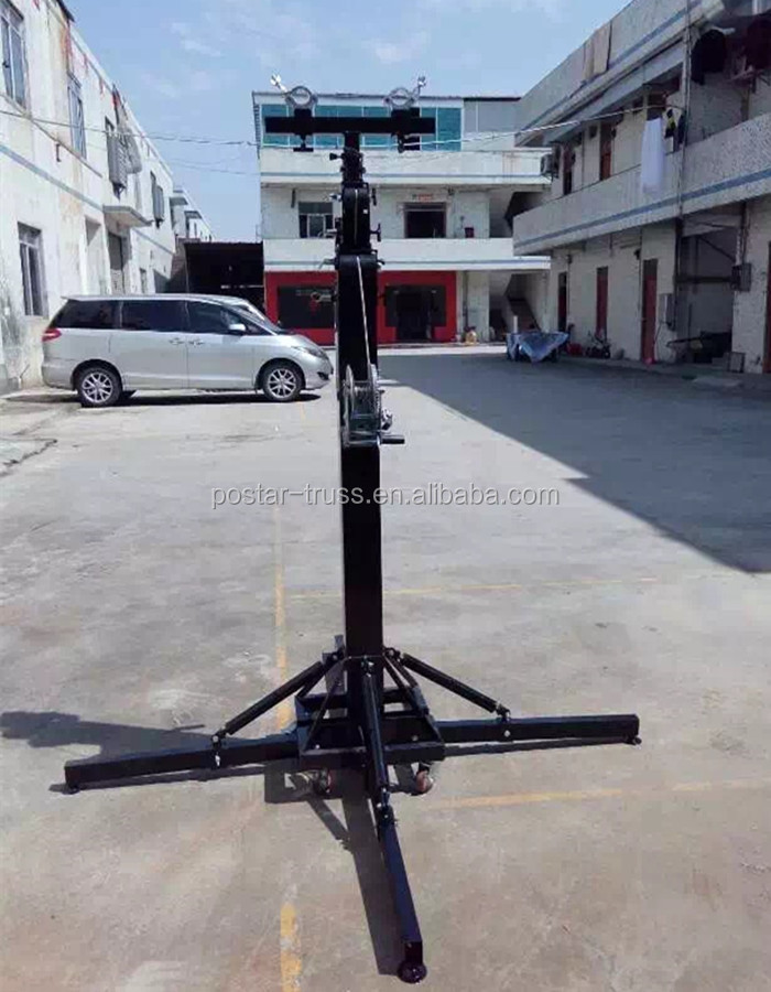 Strong 250KG Loading capacity winch truss lift light stand with T Bar