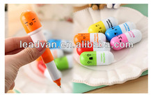 Cheap wholesale plastic pen pill shaped pen for hospital business gifts