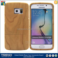 Real Natural Bamboo Wood Wooden Hard Case Cover for s6 edge
