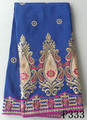 Royal blue indian george fabric embroidery george fabrics indian raw silk george fabrics