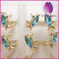 high quality 24k gold plated copper earring