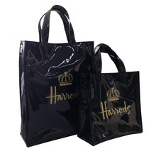 Practial custom printied shiny PVC shopping bag/ladies branded handbag(PK-11405)