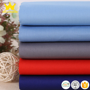 Hot Selling TC Fabric 65 Polyester 35 Cotton Blend Twill Fabric For Workwear