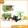 Yibao wholesale kids farm farmer animals poultry diecast tractor trailer set toy