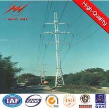 Square Galvanized Power Transmission Poles With Climbing Ladder
